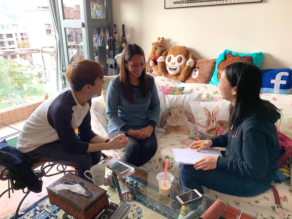 左起(from left to right):胡嘉熙WU Ka Hei、Fredelyn、林倩婷LAM Sin Ting