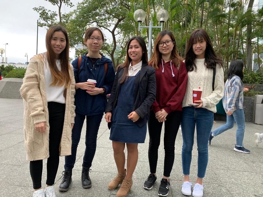 同學們與Michelle Students and Michelle