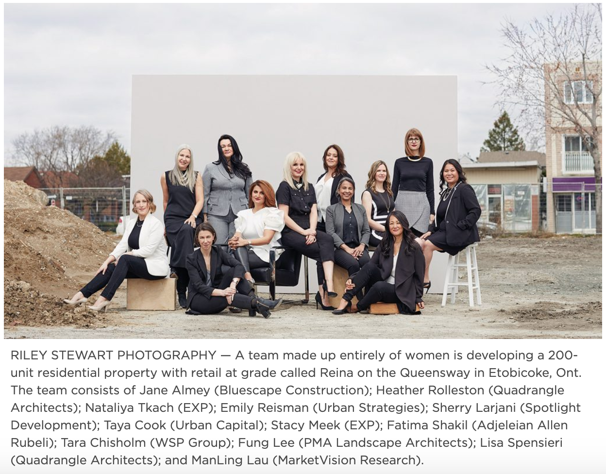 "DAILY COMMERCIAL NEWS - ""All-female 'dream team' to build condominium development with foundation of collaboration""VIEW ARTICLE"