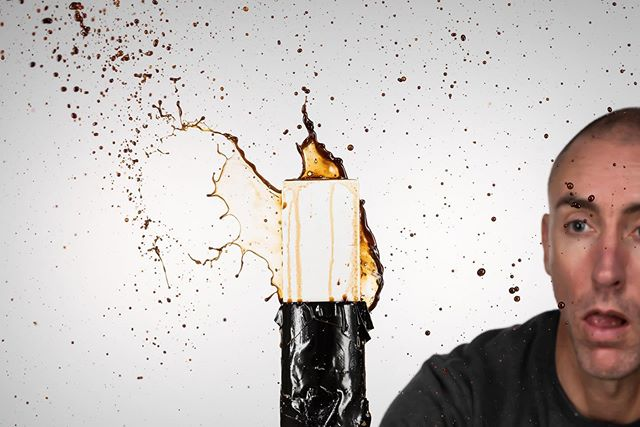 Sometimes an image is best left without an explanation. 😐👍#concentration #creative #photography #coffee #splash #bad