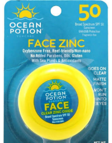 This is by far my favorite sunscreen in the world. I try to avoid chemical sunscreens, and many zinc oxide sunscreens leave a white or oily sheen. This one however becomes clear and matte, and though it does contain Octocrylene as well as Zinc Oxide, this is a much safer alternative to popular chemicals such as Oybenzone. I typically buy mine on Amazon for around  $5.91