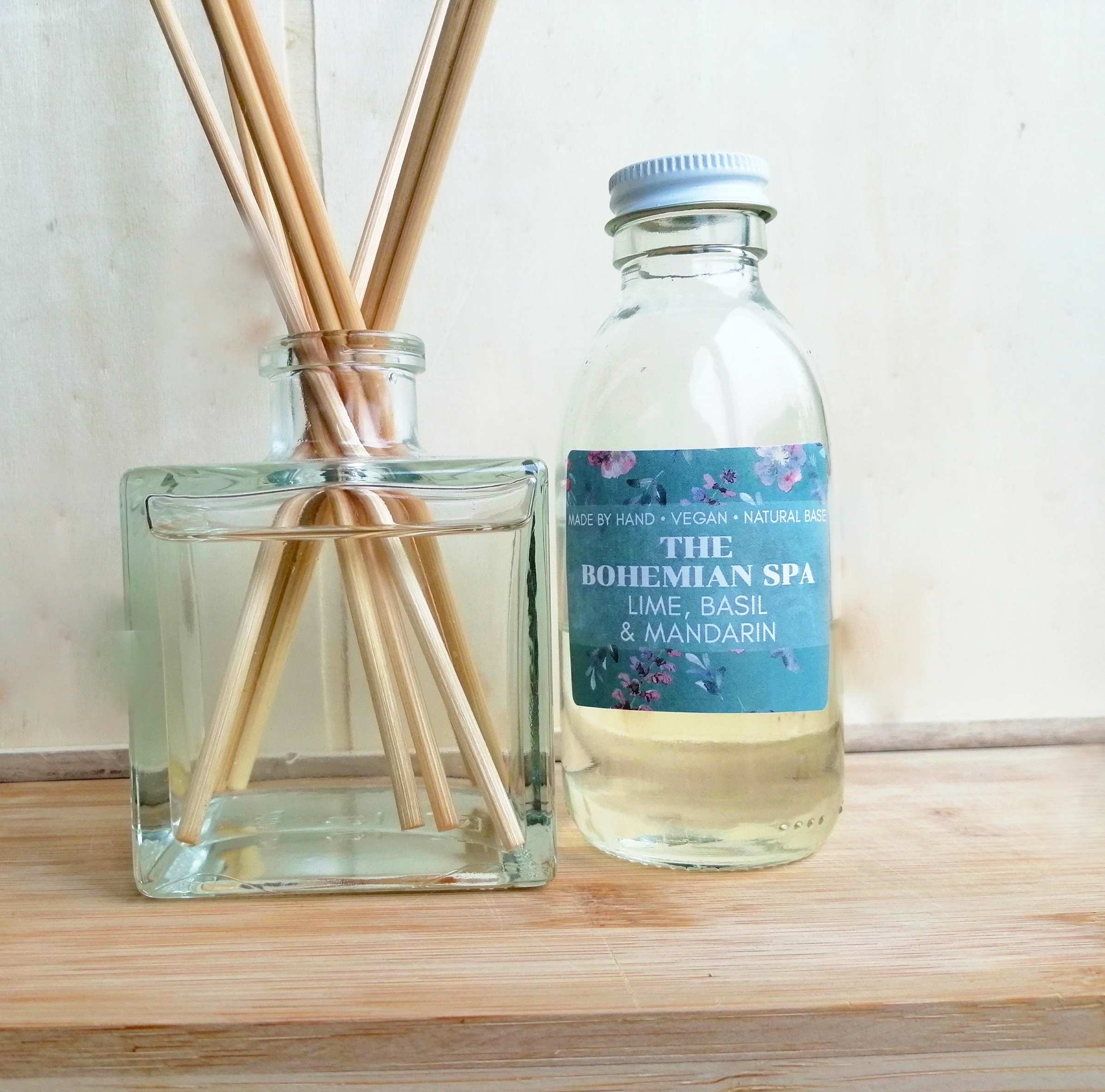 Plastic Free Home Natural Based Diffuser Vegan Diffuser Rattan Reeds Fractionated Coconut Oil Reed Diffuser