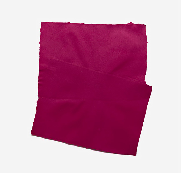Fabriano Collage, magenta, 2017 Handmade Fabriano paper, inkjet ink used as dye, 48 x 58 cm