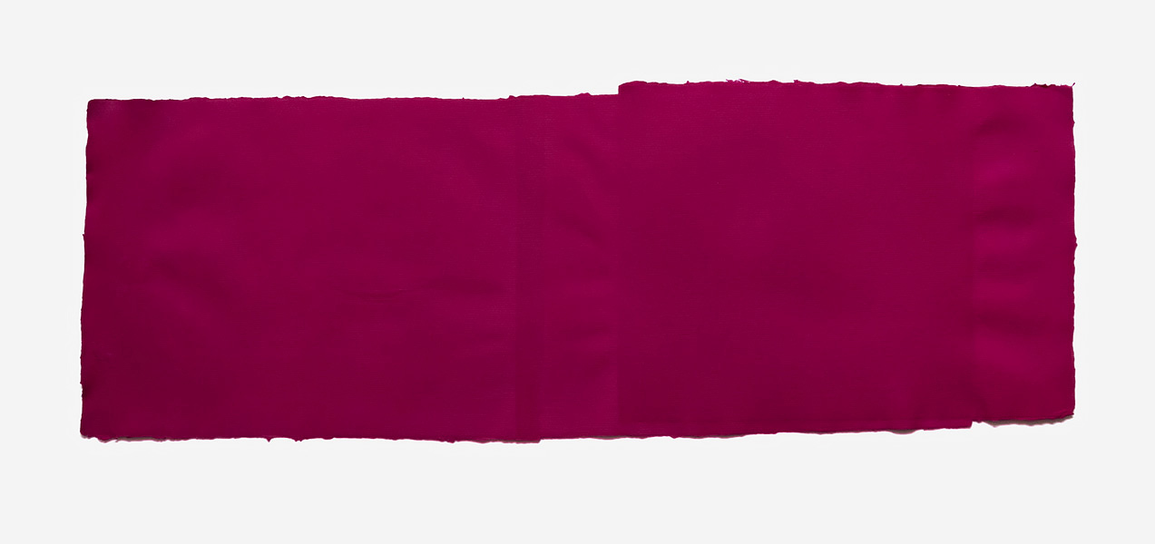 Fabriano Collage, magenta, 2017 Handmade Fabriano paper, inkjet ink used as dye, 45 x 72 cm