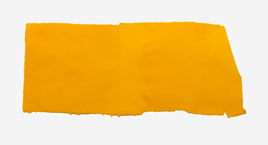 Fabriano Collage, yellow, 2017 Handmade Fabriano paper, inkjet ink used as dye, 36 x 62 cm