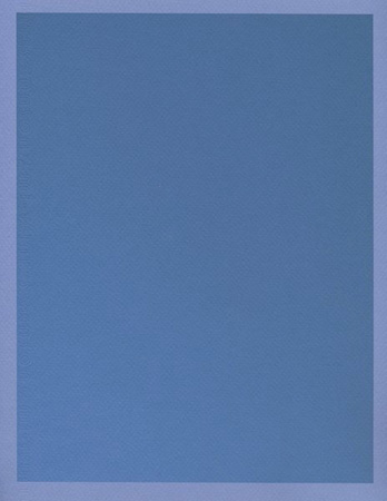 Colour on Colour Blue (Friday 10:02 am) Pigment print, 8.5 x 11 in