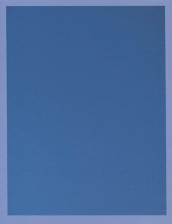 Colour on Colour Blue (Friday 2:14 pm) Pigment print, 8.5 x 11 in