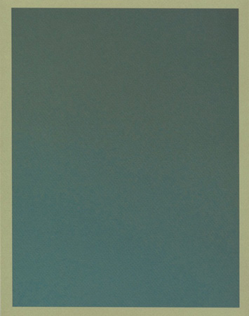 Colour on Colour Green (Tuesday 12:07 pm) Pigment print, 8.5 x 11 in