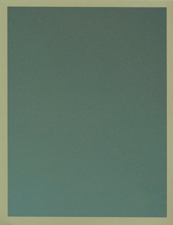 Colour on Colour Green (Tuesday 1:47 pm) Pigment print, 8.5 x 11 in