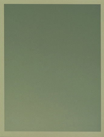 Colour on Colour Green (Tuesday 3:26 pm) Pigment print, 8.5 x 11 in