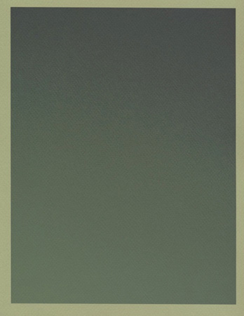 Colour on Colour Green (Tuesday 5:02 pm) Pigment print, 8.5 x 11 in