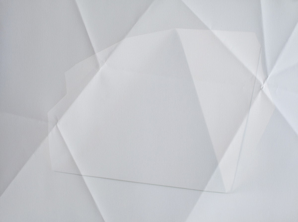 Paper Works (Blue) #1, 2010 Pigment print on folded paper 50 x 70 cm