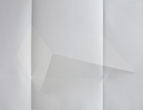 Paper Works (Blue) #4, 2010 Pigment print on folded paper  50 x 70 cm