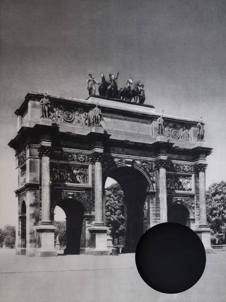 Area, Paris—Arc de Triomphe  du Carrousel, 2009. Cut vintage poster, 38.5 x 54 cm
