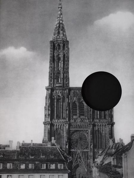 Area, Cathédrale de Strasbourg,  2009. Cut vintage poster,  38.5 x 54 cm