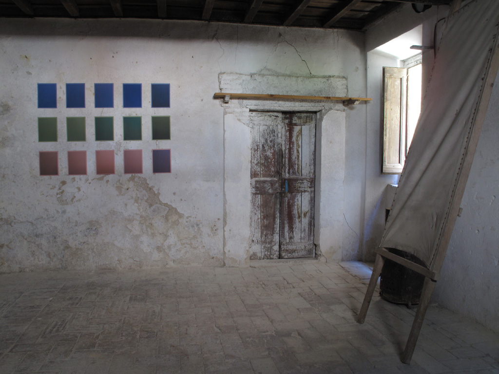As It Is, 2011 Site-specific installation in abandoned 17th century pharmacy Montasola, Italy