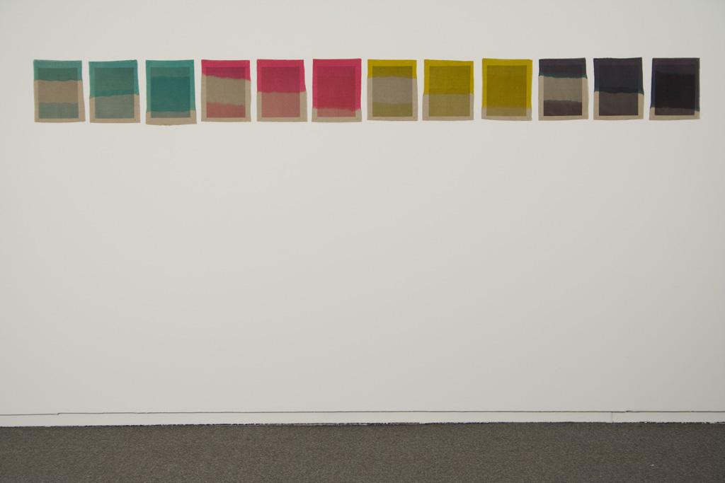 Three Quarter Passes, 2012.  Inkjet ink used as dye,  inkjet print on canvas, 21 x 25 cm
