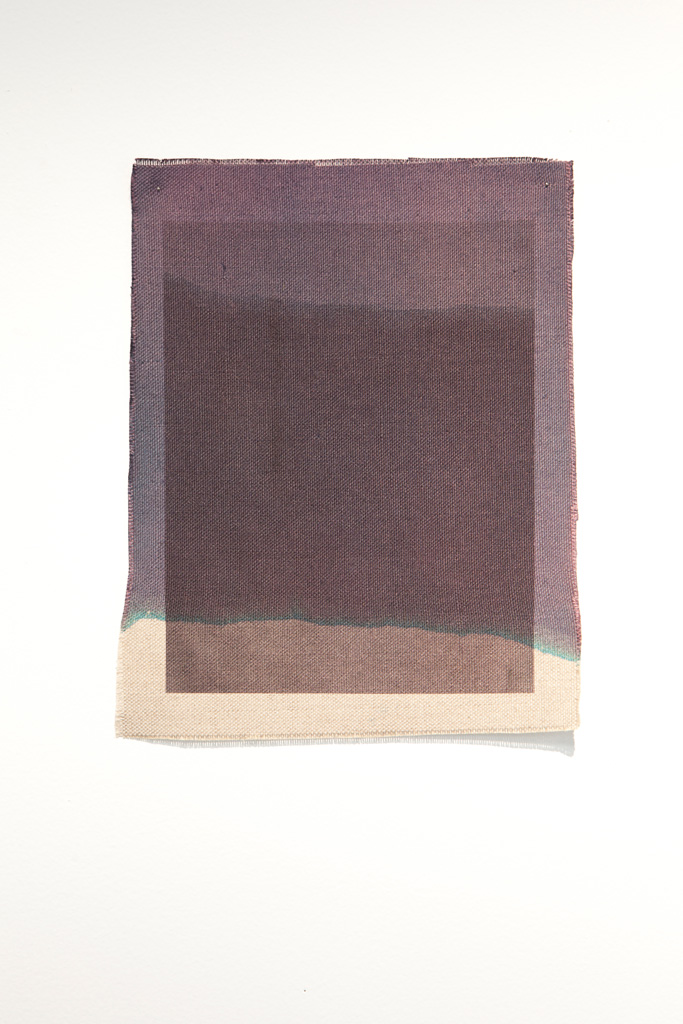 Three Quarter Passes,  black, 2012. Inkjet ink used as dye,  inkjet print on canvas, 21 x 25 cm
