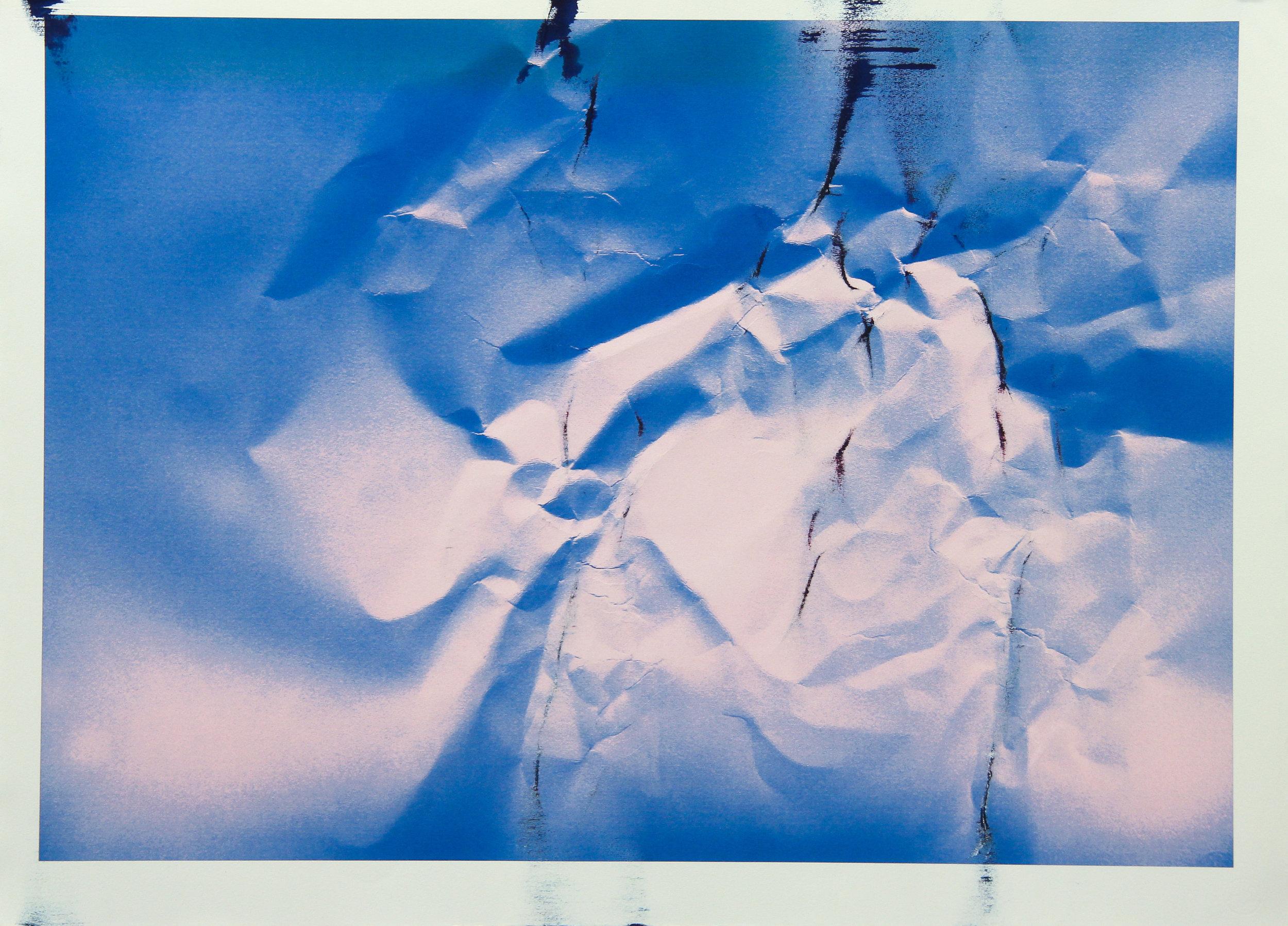 Tinted Headstrike #2, 2015 Unique giclée print, 107 x 78 cm