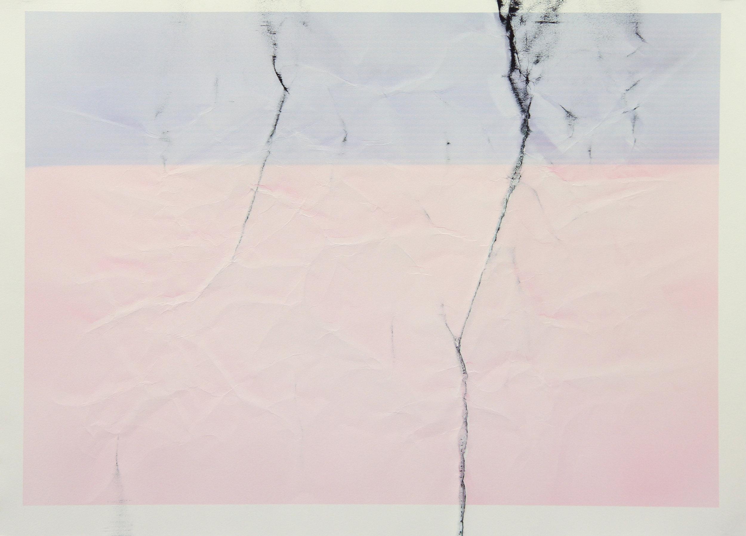 Tinted Headstrike #9, 2015 Unique giclée print, 107 x 78 cm