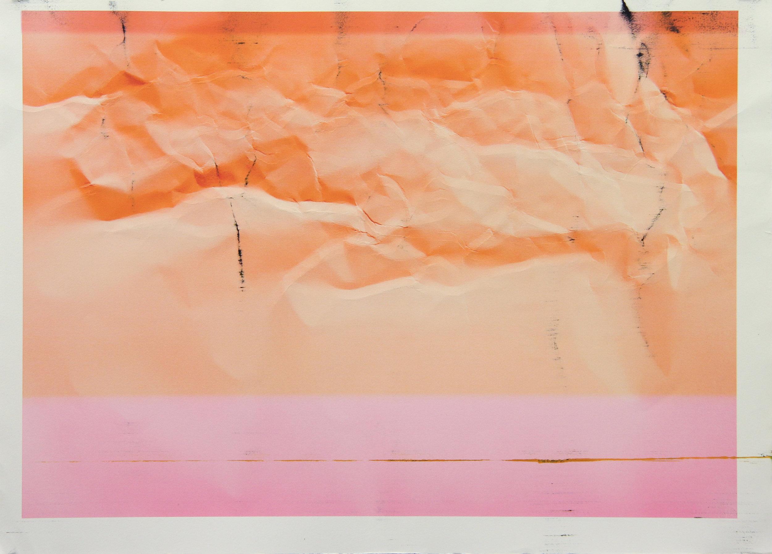 Tinted Headstrike #14, 2015 Unique giclée print, 107 x 78 cm