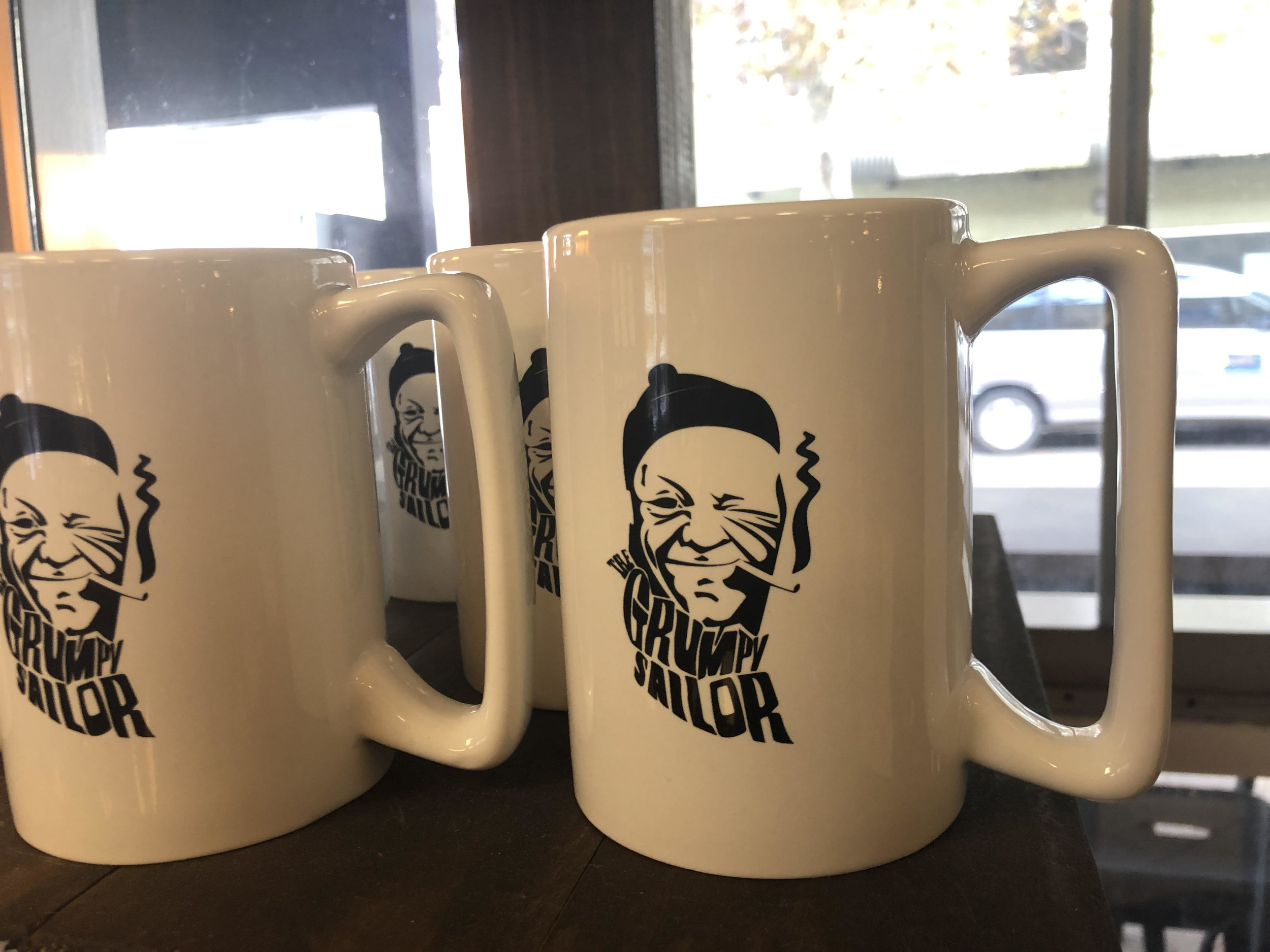 coffee mugs with cafe logo