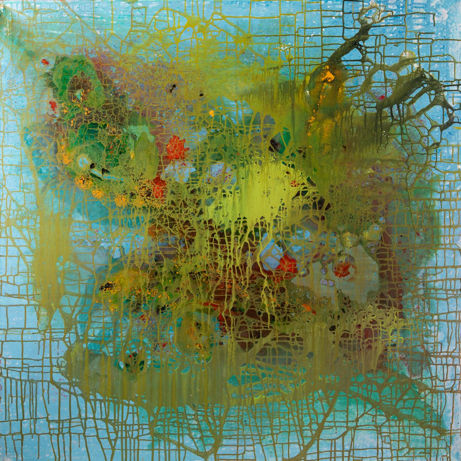 Fischernetz - 2018Acryl auf Leinwand120 x 120 cm