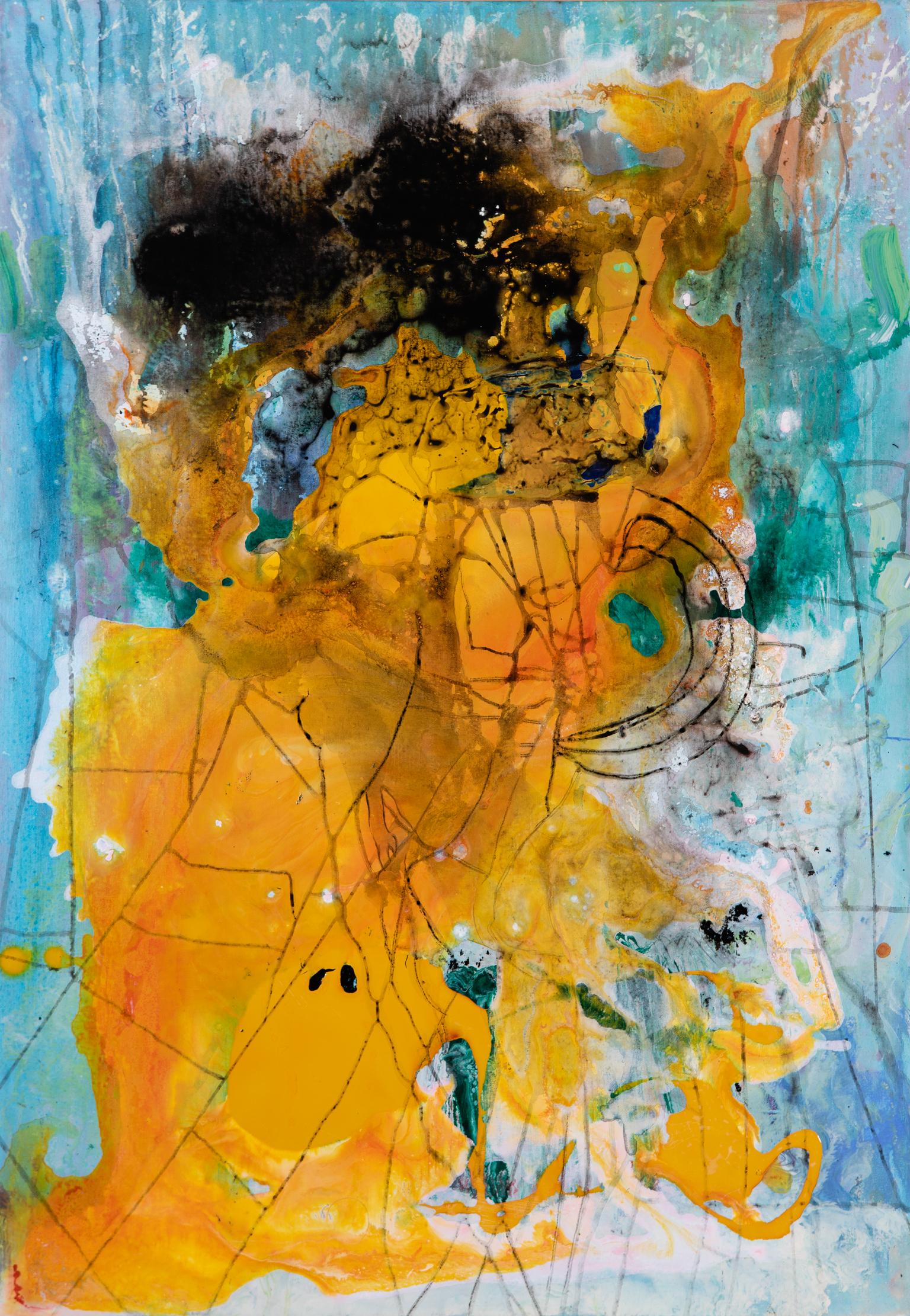 Spinnennetz - Acryl auf Leinwand100 x 80 cm