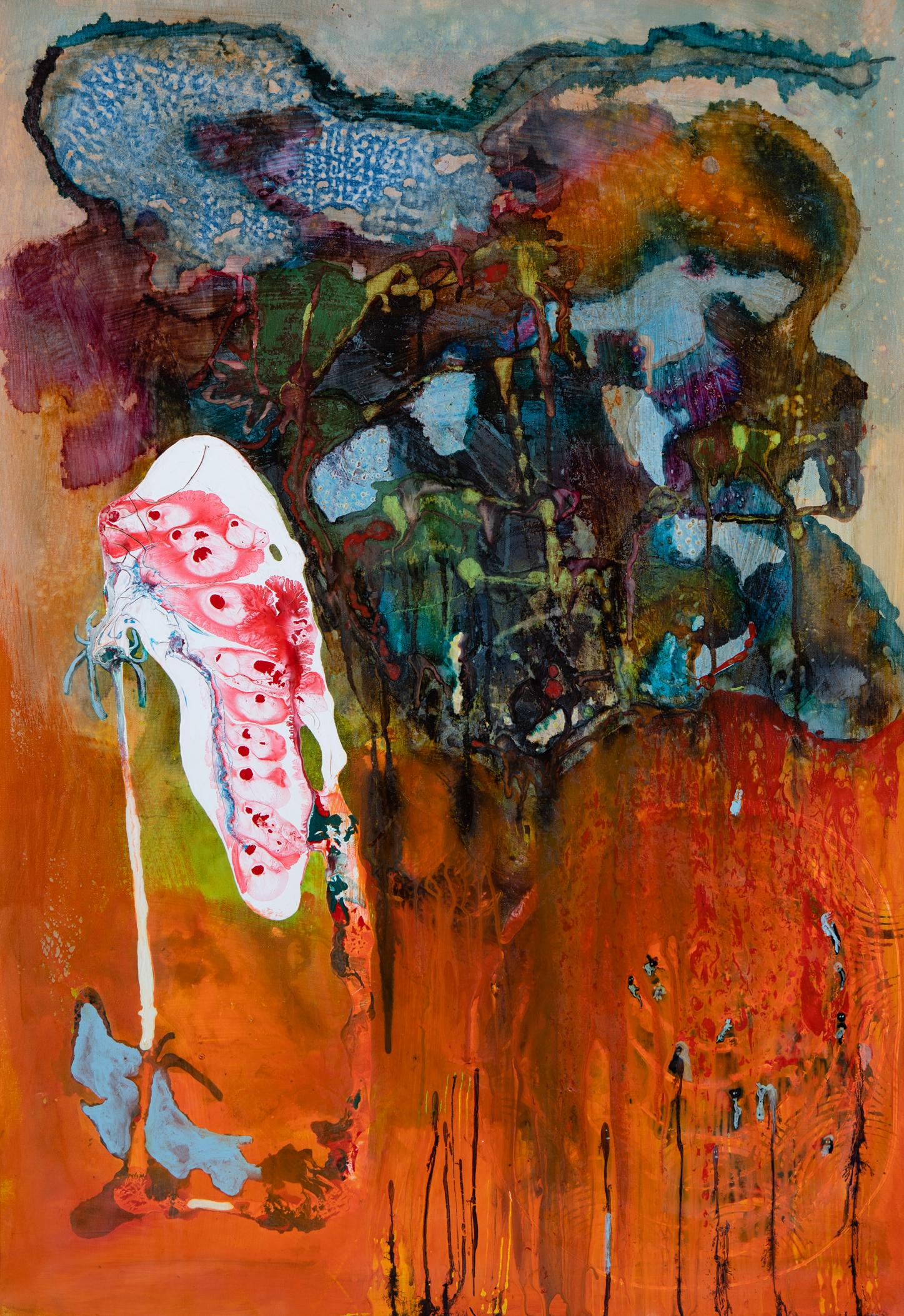 Kokon - 2017Acryl auf Leinwand70 x 100 cm