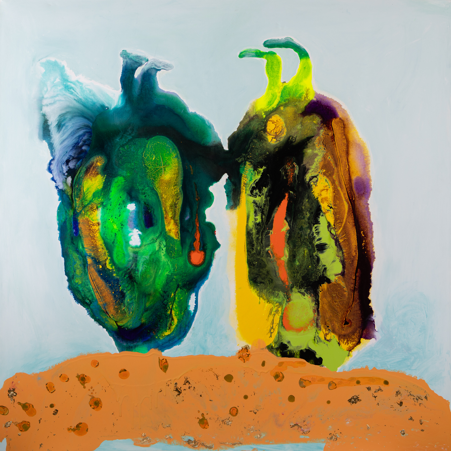 Kopf in den Sand - Acryl auf Leinwand120 x 120 cm