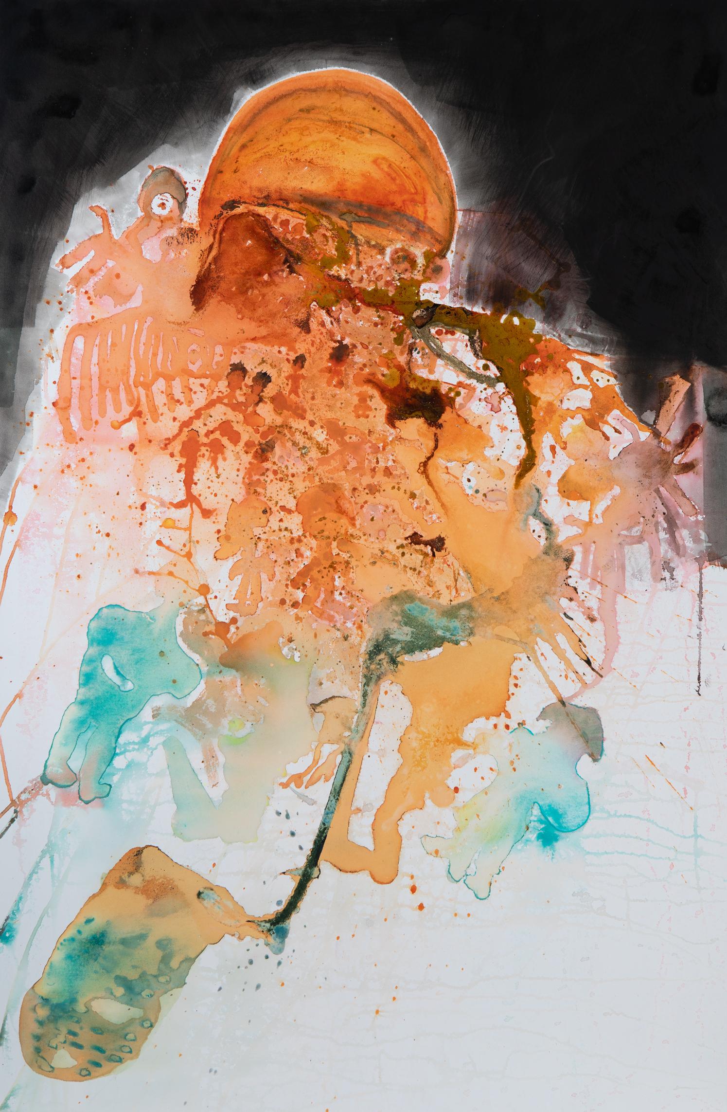 Krieg - 2016Acryl auf Leinwand80 x 120 cm