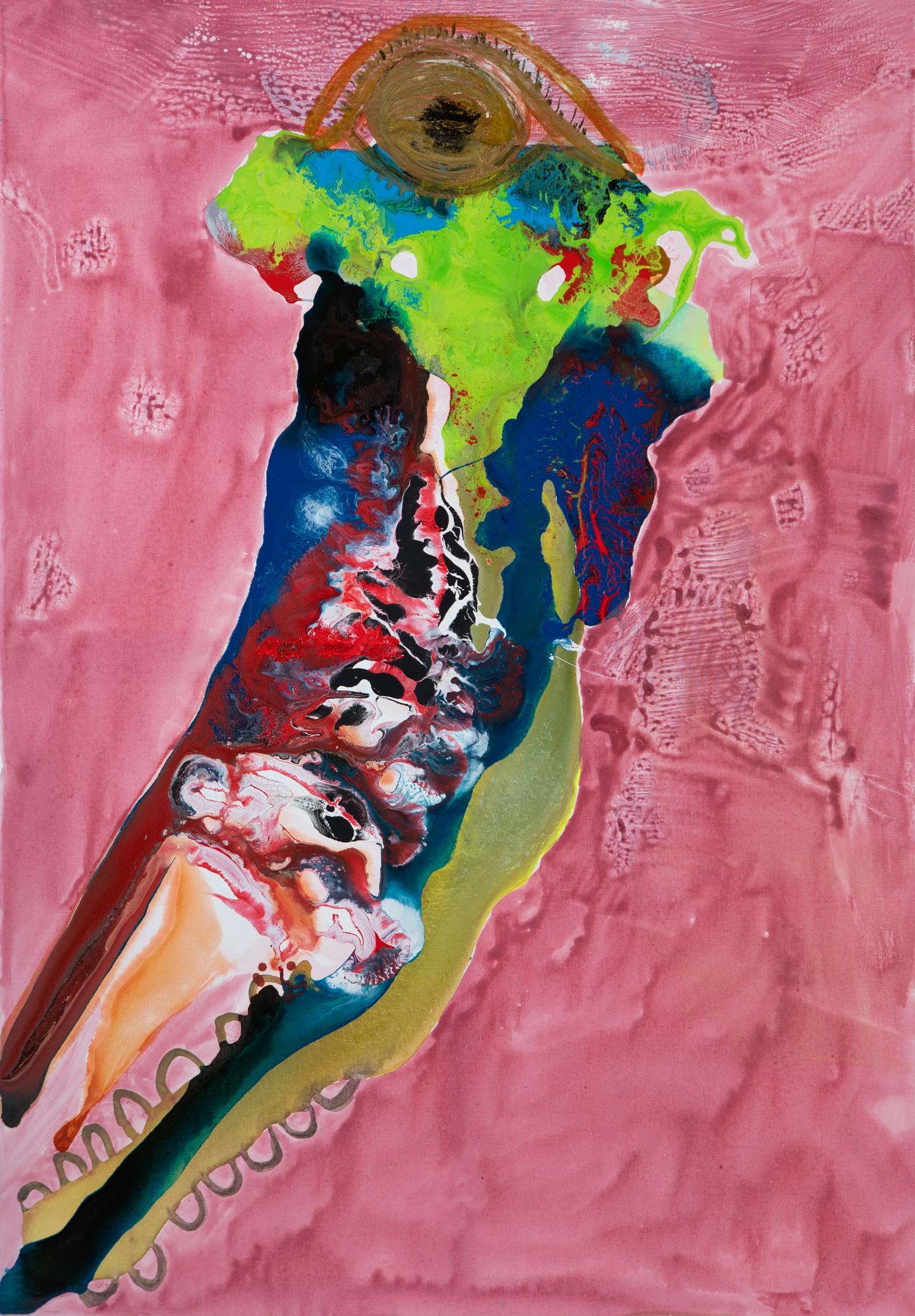 Vergangenheit - 2017Acryl auf Leinwand701 x 100 cm