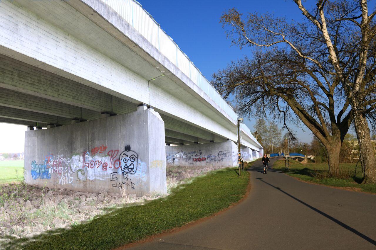 Visualisierte Brücke beim Regnitzübergang bei der Wöhrmühle Foto: Quelle: BI Stub ja- aber keine Kosbacher-/Wöhrmühlbrücke