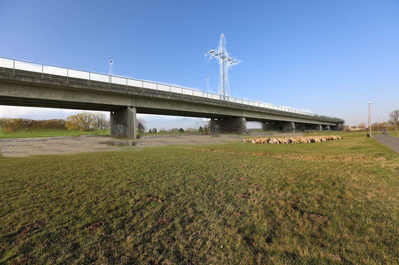 Visualisierte Brücke am Radweg im Wiesengrund Foto: Quelle: BI Stub ja- aber keine Kosbacher-/Wöhrmühlbrücke