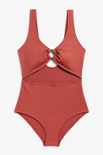 SHIRRED CUT OUT SWIMSUIT