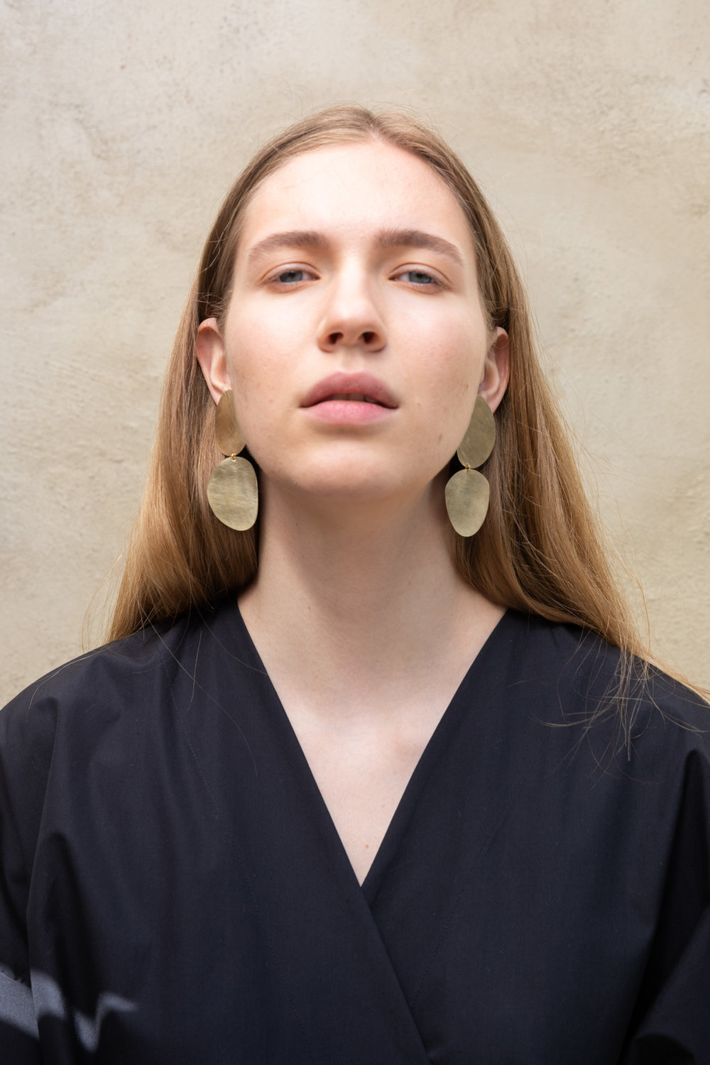 Two stones earrings
