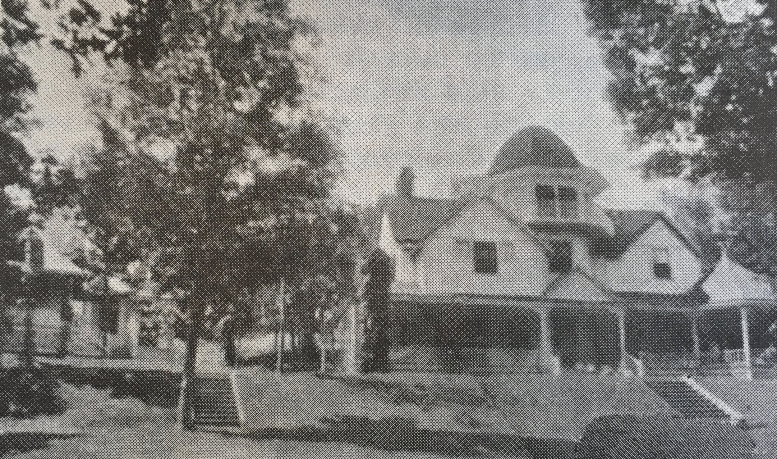 Linn Haven,  residence of O.D. Wetherell (on the West) in 1895.