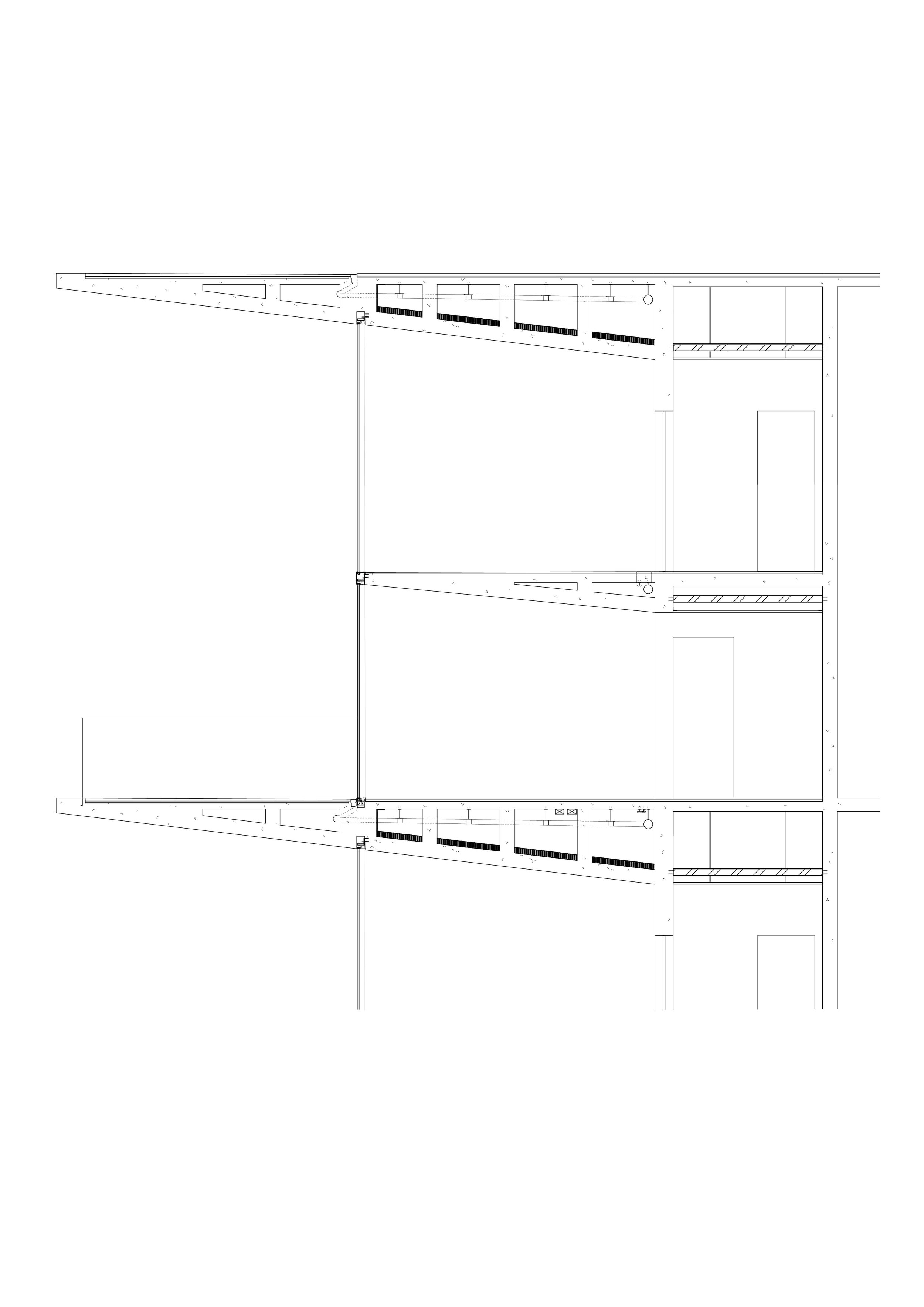 Structural section - This sections shows the internal structure of the cantilevered floor slaps. It was given the green light as a feasible building project by a civil engineer from Arup.