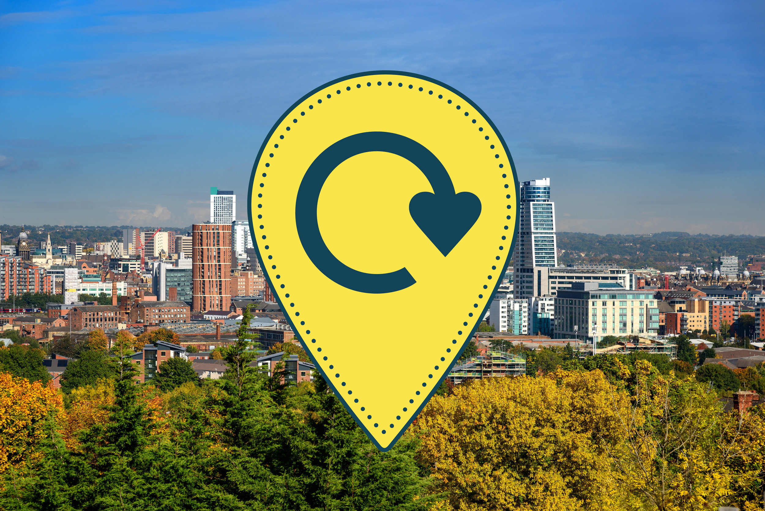 HUBBUB_Leeds-By-Example-recycling-on-the-go-campaign_Leeds-skyline_pin.jpg