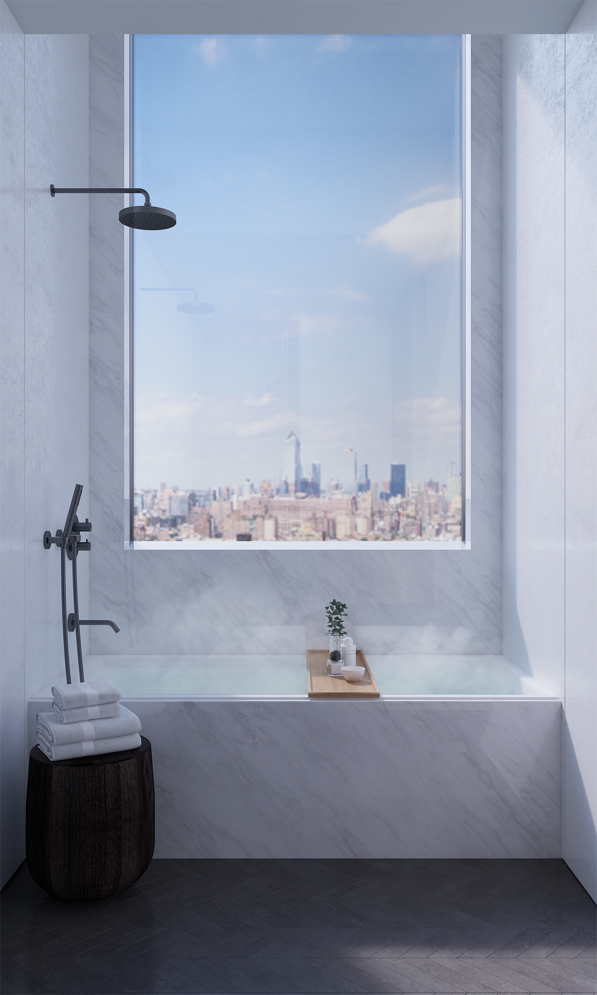 VIEW FROM MASTER BATHROOM
