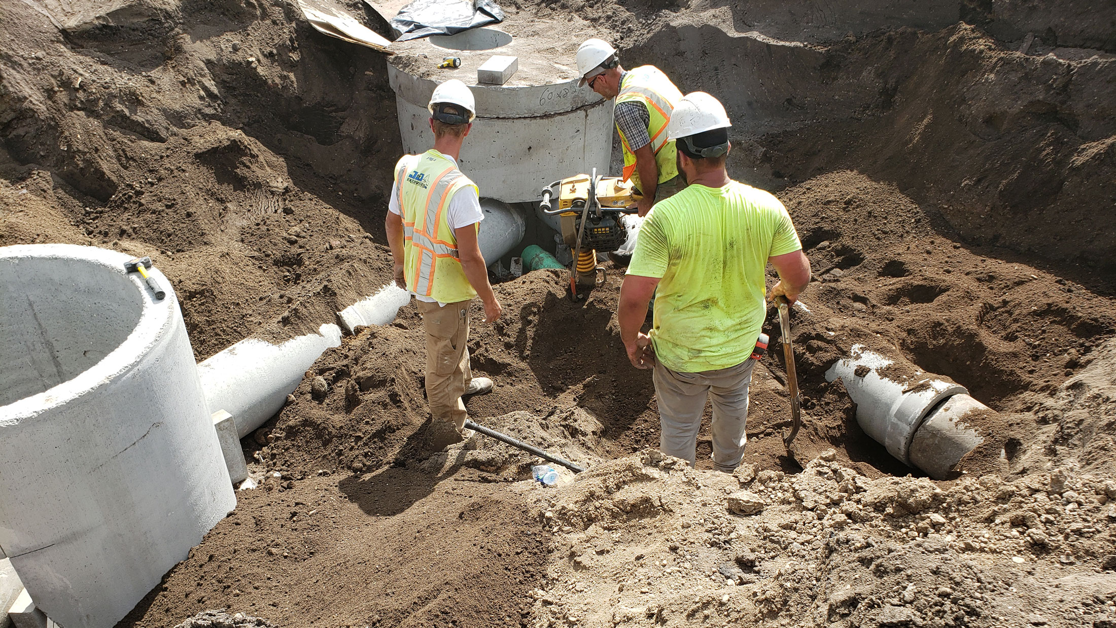 Concrete structures for storm sewer.