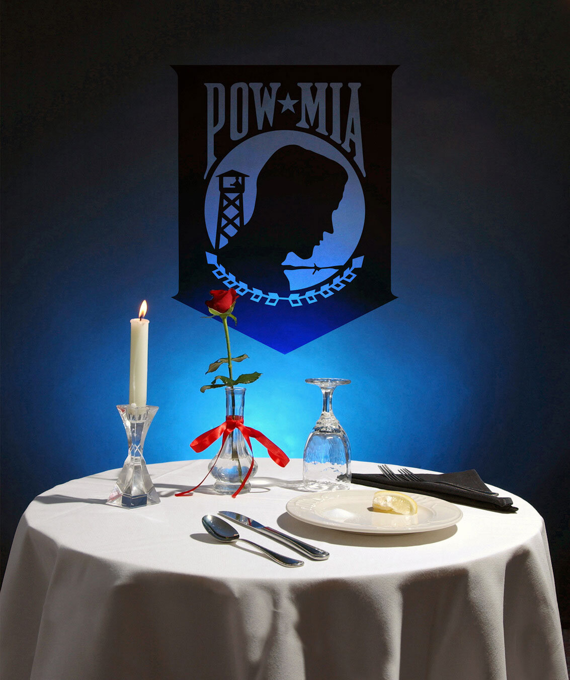 POW/MIA table also known as the Missing Man table