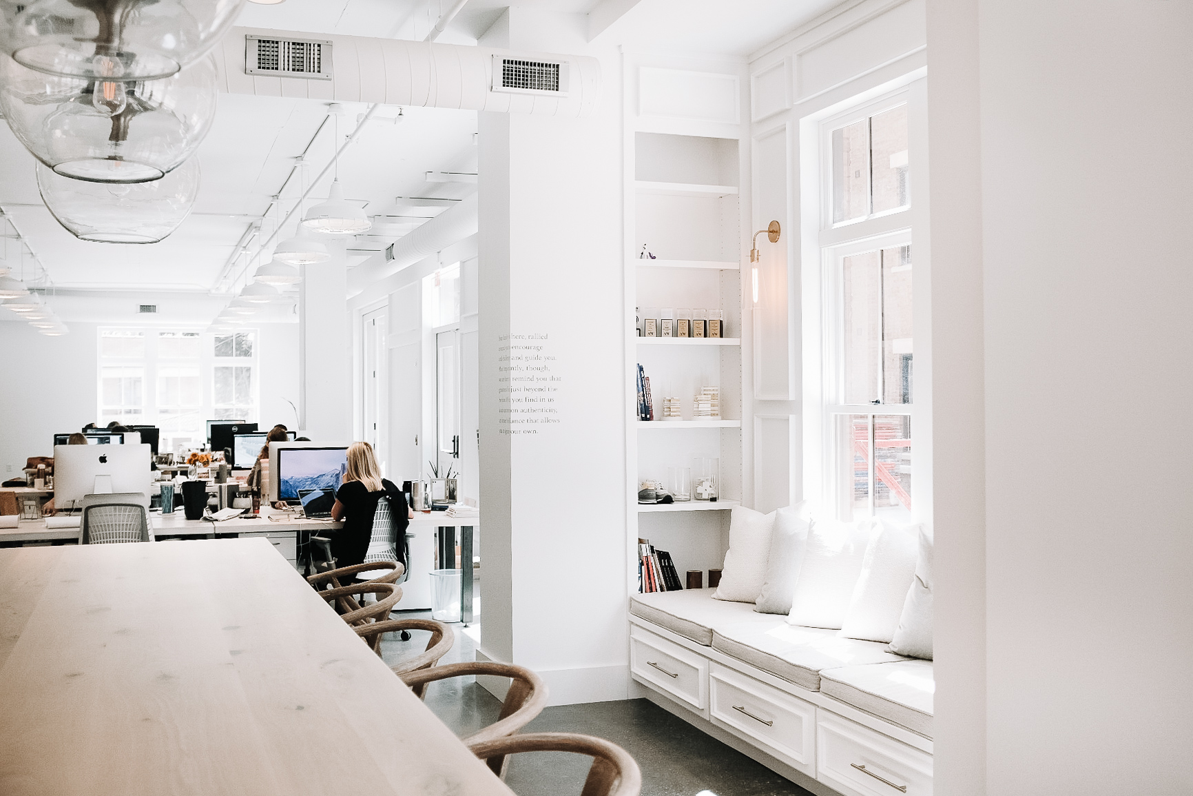 VISIT THE DESIGN STUDIO - Featuring open desking and a 16-foot family table, the Design Studio gets the creative juices flowing for team TENFOLD.