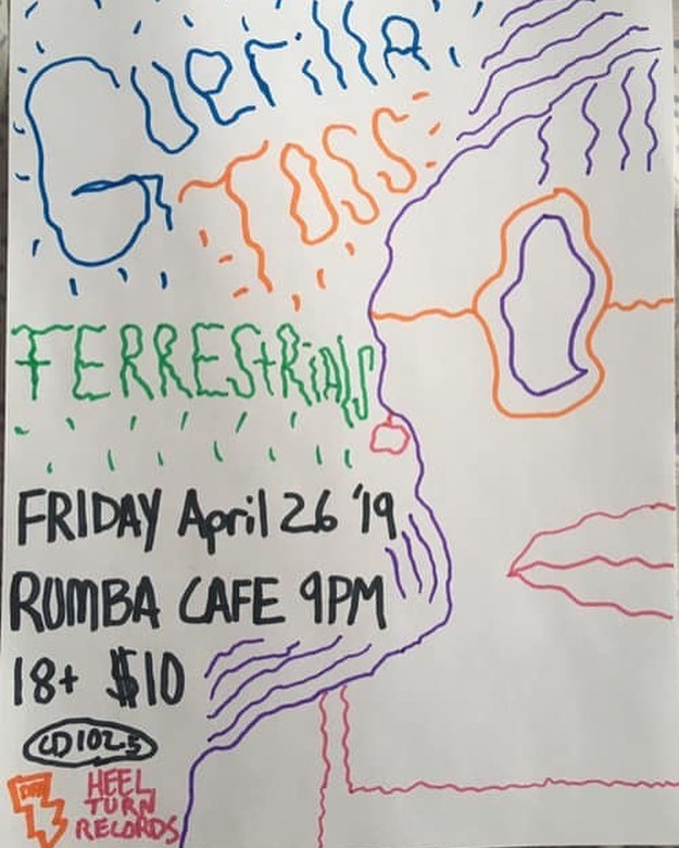 TONIGHT! TERRESTRIALS at Rumba Cafe in Columbus w/Guerilla Toss (NYC) & Planet Jackpot! Come for the weird, stay for the strange!