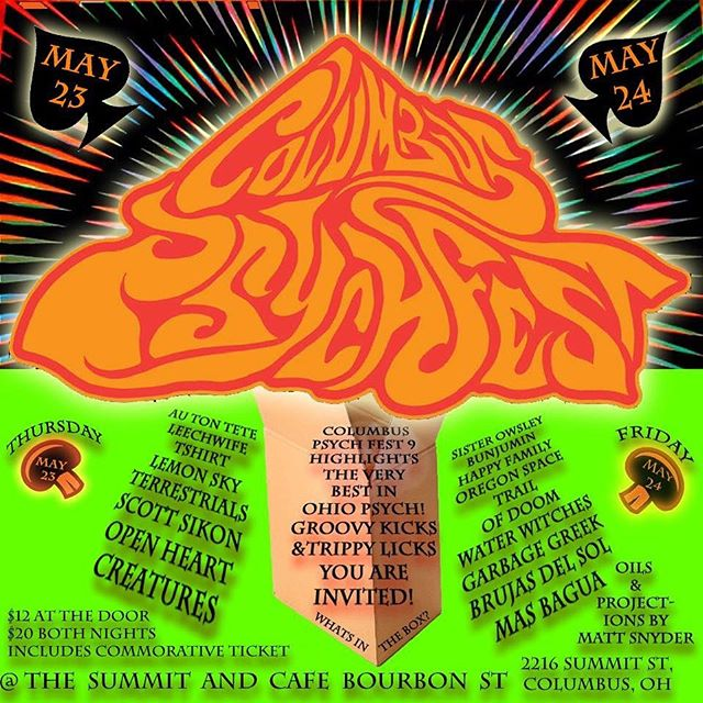 Columbus Psych Fest is May 23-24. Come get weird with TERRESTRIALS!