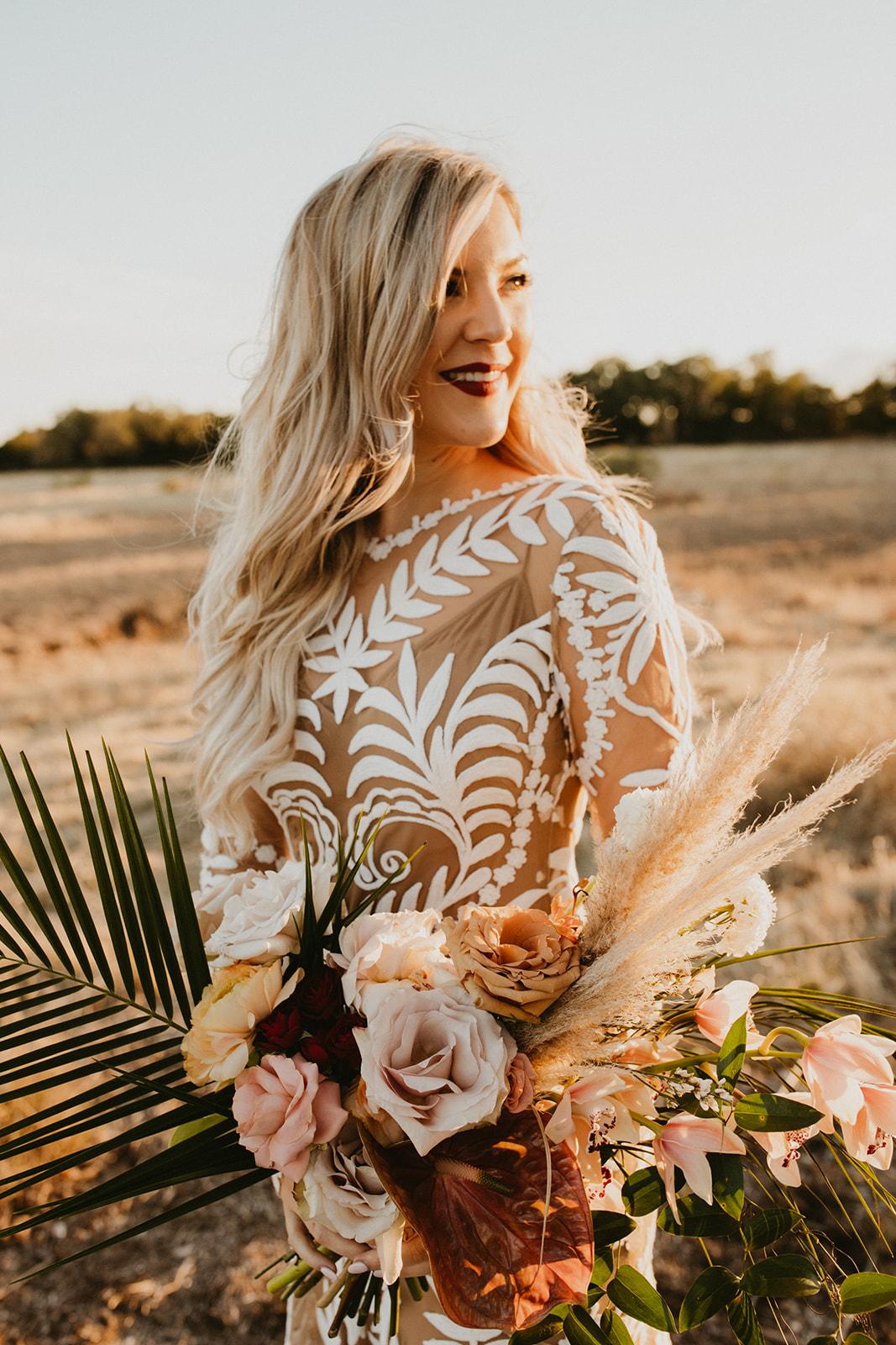 A Palm Spring Inspired Wedding - Featuring:Photography: Century TreePlanning: Epoch Co EventsVenue: Prospect HouseRentals: Vestige Event RentalsHAMU: Lola BeautyDress: Rue De Seine
