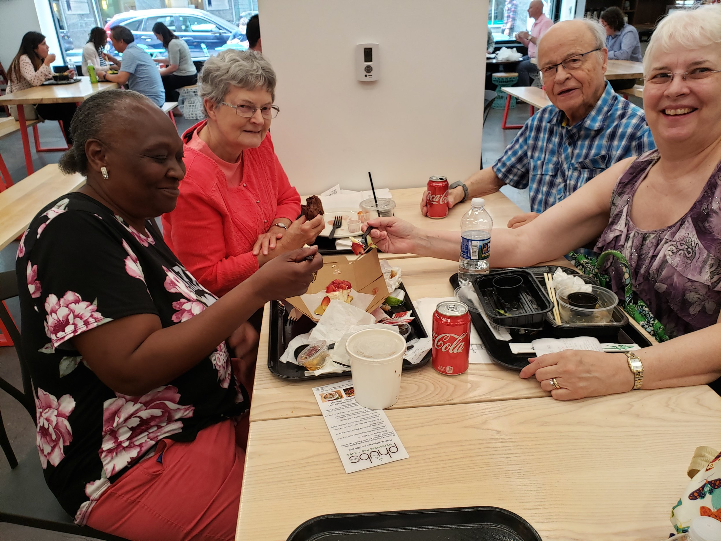 LUNCH BUNCH - Friends who lunch! Bi-monthly on Wednesdays. Contact Diane Olin White at dolinwhite@gracechurchum.org.