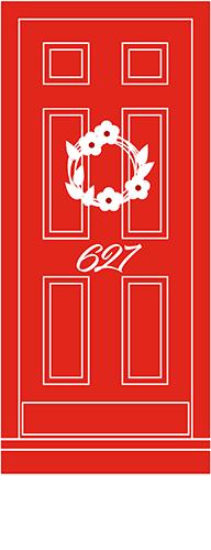 627 on king door bed & breakfast bnb b&b welcome red