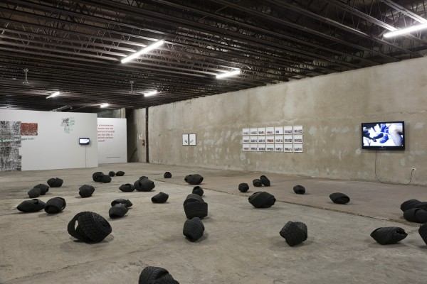 Exhibition view of The Dialectic City, 2011