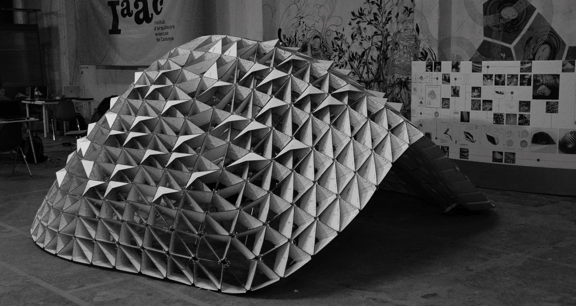Parametric Dome, group project. IaaC 2008.